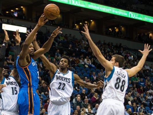 NBA: Oklahoma City Thunder at Minnesota Timberwolves
