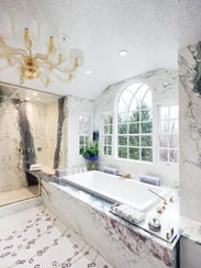 A master bathroom in Tenafly designed by Zachary Epstein