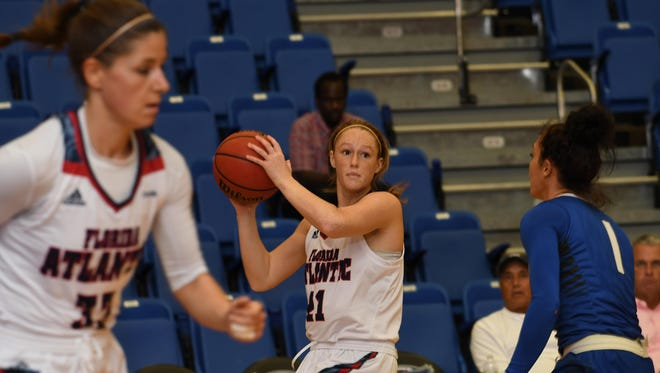 Julia Jenike is averaging 20 minutes, 5.5 points and 3.8 rebounds per game as a freshman at Florida Atlantic University.