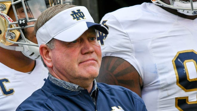 Notre Dame coach Brian Kelly  welcomes the 2017 recruiting class.