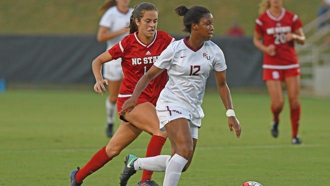 Kaycie Tillman put FSU ahead in the 15th minute the team's match against N.C. State.
