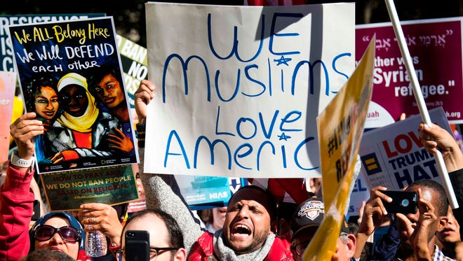 Muslim protesters demonstrated in the nation's capital in October.