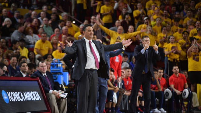 Arizona Wildcats head coach Sean Miller praised the ASU crowd after his team's win on Thursday night.