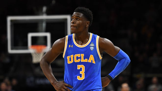 UCLA Bruins guard Aaron Holiday is a trendy pick for the Phoenix Suns at No. 16 in the NBA draft in recent NBA mock drafts.