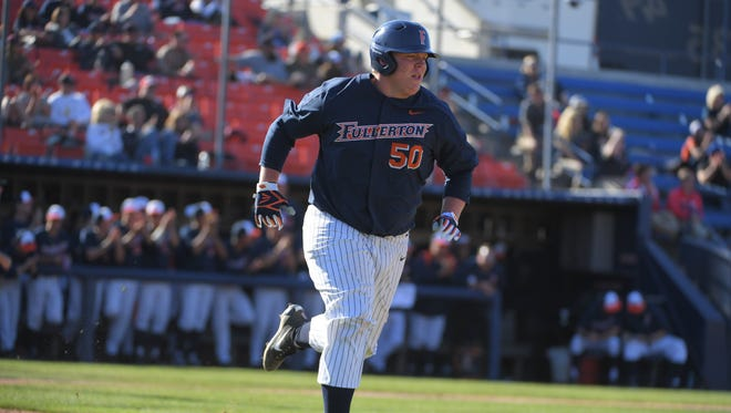 Former Redwood High standout Jace Chamberlin is a freshman on the Cal State Fullerton baseball team.