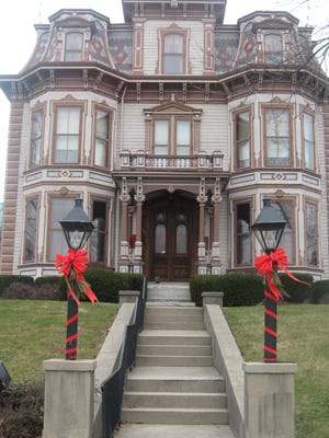 The Gaar House Museum in Richmond is decorated for holiday tours and features artisans selling their wares.