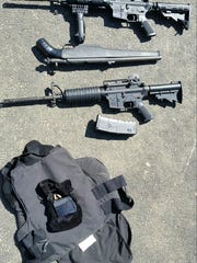 Guns seized by state troopers from David Preston's two vehicles.