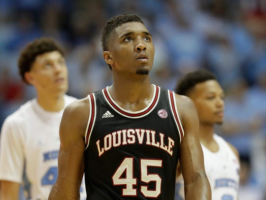 Donovan Mitchell in a 2017 game vs. UNC.