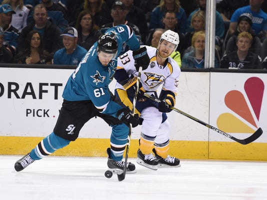 NHL: Stanley Cup Playoffs-Nashville Predators at San Jose Sharks