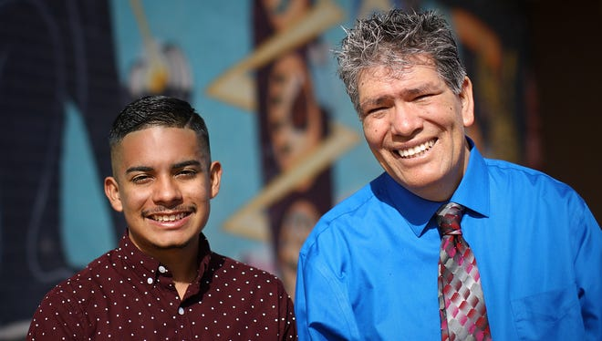 "Gabriel Holguin, left, has nominated Gadsden High School teacher Manuel Mendoza for a ""Life Changer of the Year"" award months after Mendoza received an award from Honored.org."
