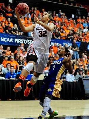 Oregon State senior forward Deven Hunter has started in 68 consecutive games. She was the Beavers' second-leading rebounder last season.