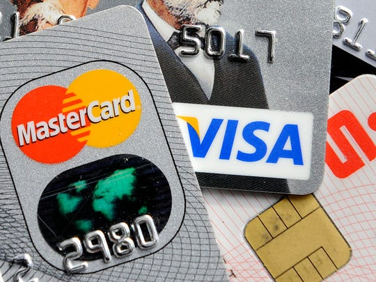 Credit and bank cards with electronic chips.
