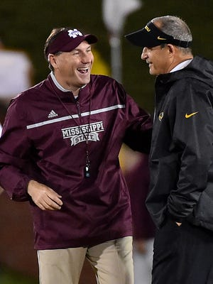 Mississippi State coach Dan Mullen sent prayers to Missouri's Gary Pinkel, who announced his retirement on Monday.