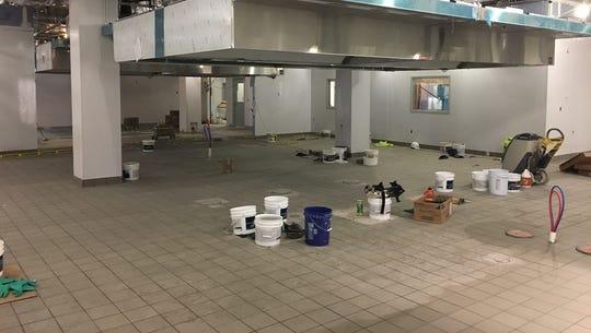 Inside Foodlink's Community Kitchen as construction