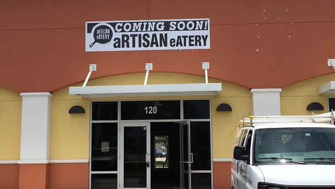 A sign is up for the forthcoming Artisan Eatery in south Fort Myers.