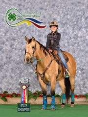 Alex Little, of New Oxford, was named PA 4-H State Champion in the Barrel Racing Ponies, Junior Rider class.