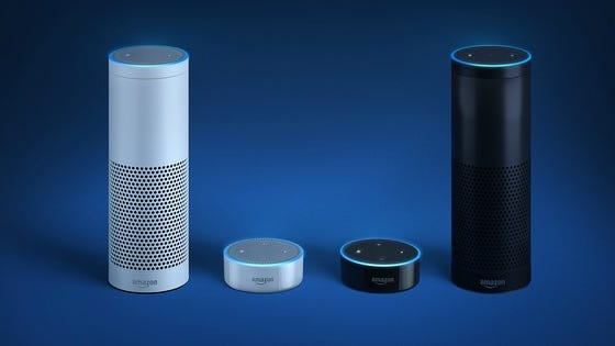 Amazon's Echo devices are powered by its Alexa artificial intelligence.