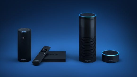 Alexa enabled products including Echo, Dot, Tap and FireTV.