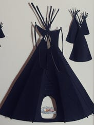 Papercutting of Standing Rock protest in Fort Yates,