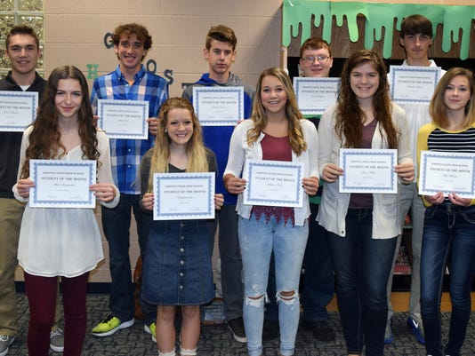 Harper Creek October Students of the Month
