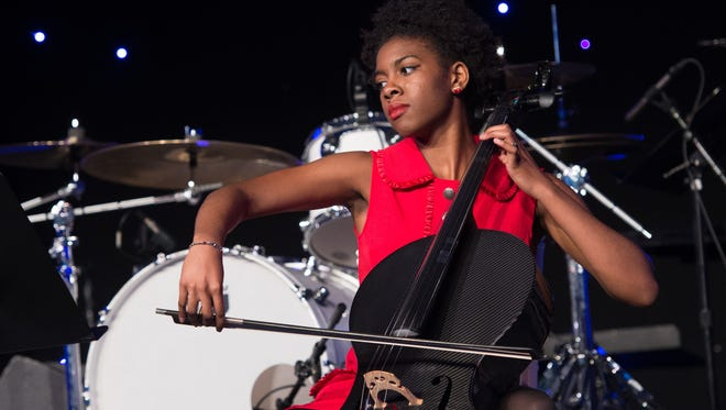 Wish kid Ava Covington, 16, performs on her cello for a mesmerized audience at the 2017 Make-a Wish New Jersey Gala on June 8.