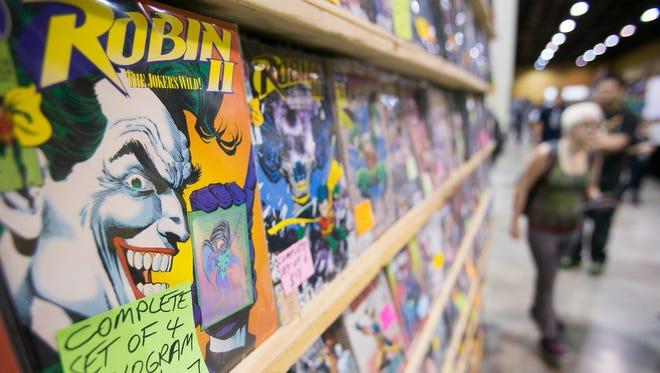 Comics for sale at Arizona Comicon at the Phoenix Convention Center.