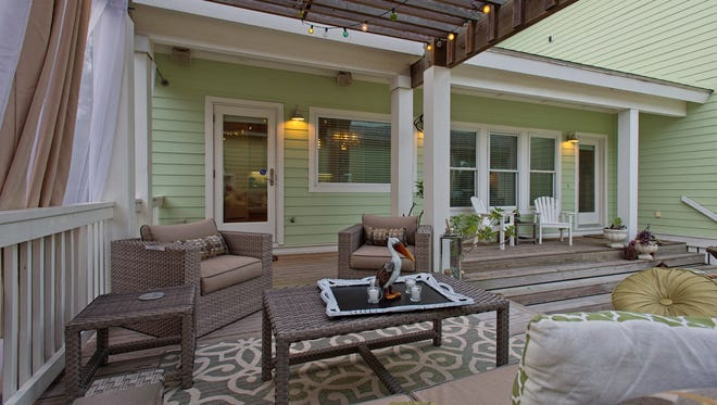 PHOTO BY EDDIE SEAL/SPECIAL TO THE CALLER TIMESThe outdoor patio living space is a favorite area to relax and enjoy the shade cooling sea breezes