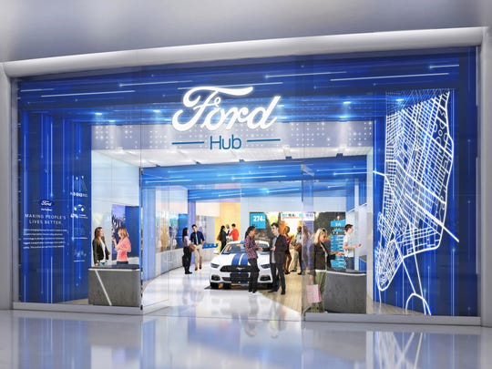 Rendering of a FordHub where you'll be able to use the FordPass.