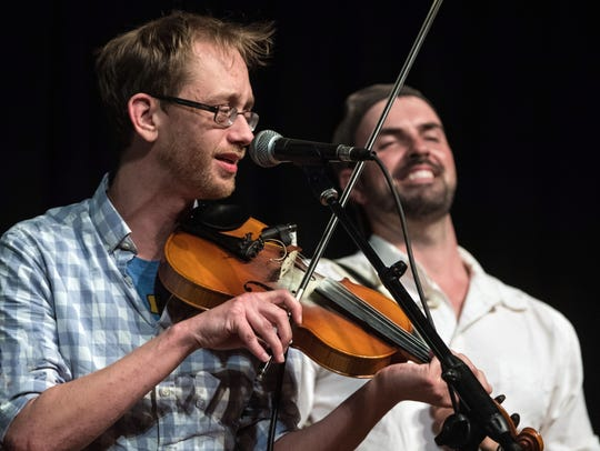 Courtney Granger, left, performs with Wilson Savoy