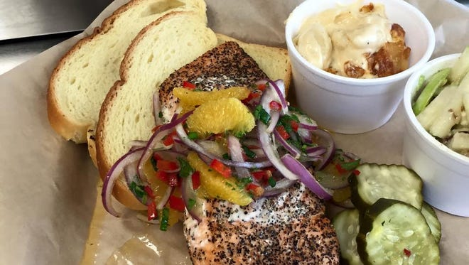 Shad and Angie Kirton have opened Kue'd Smokehouse in Waukee. Pictured is the restaurant's pepper smoked salmon.