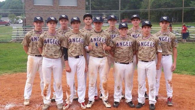 Western Carolina Angels 14 and under baseball team.