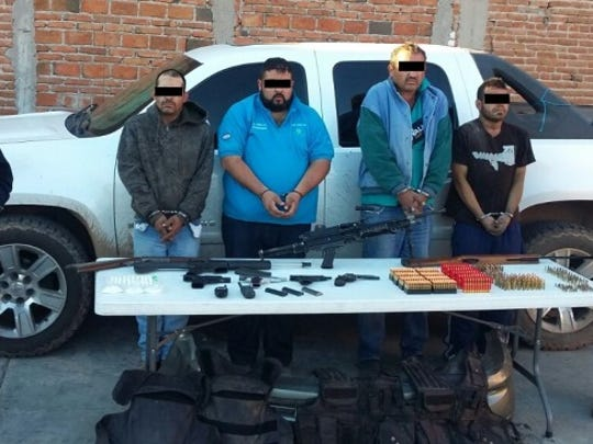 Four suspects with the Gente Nueva drug group were arrested by Chihuahua state police earlier this month.