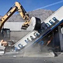 After being abandoned for about a decade, the Mac Magruder building was demolished on Monday, Nov. 30, 2015.