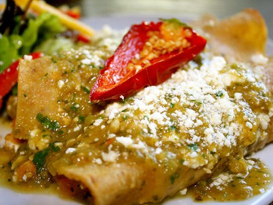 Butternut Squash and Corn Enchiladas at The Herb Box