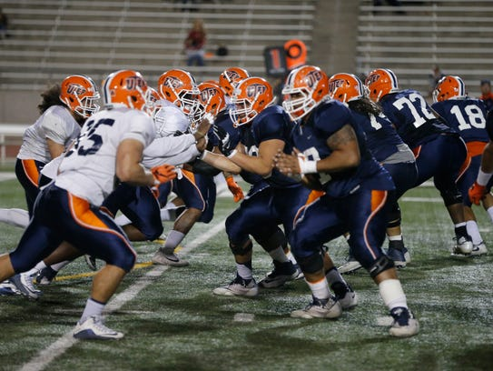The offensive line did their job Friday night keeping