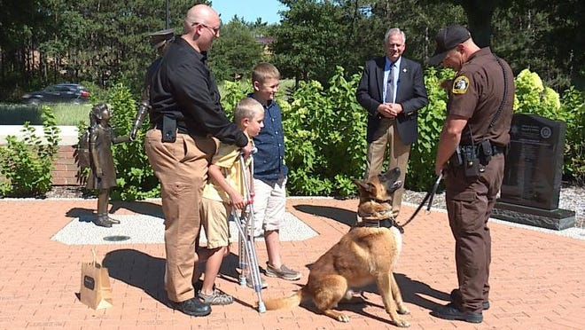 Ben and Jake Daniels started a lemonade stand to raise money for Ottawa County's K-9s. The brothers' stand raised $1,200.