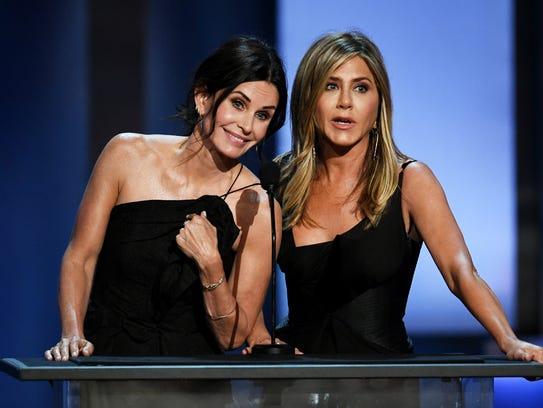 Courteney Cox and Jennifer Aniston jokingly took full