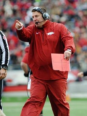 Arkansas Razorbacks head coach Bret Bielema.