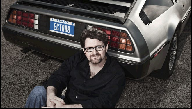 """Ready Player One"" author Ernest Cline, above, a big fan of the Back to the Future films, owns a 1982 DeLorean sports car that's been modified to look like the time-travelling car. Cline will talk with local readers via Skype at 6 p.m. Wednesday, Oct. 29 at the Fond du Lac Public Library."