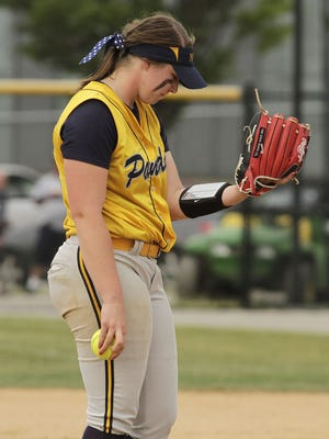 Haylee Smith of Notre Dame says her signature prayer before every pitch.