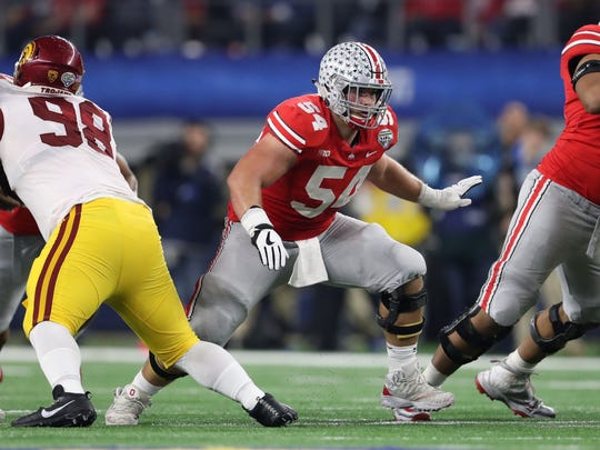 Ohio State's Billy Price is a first-round talent who could be available in the early second round due to a pectoral injury suffered at the Combine.