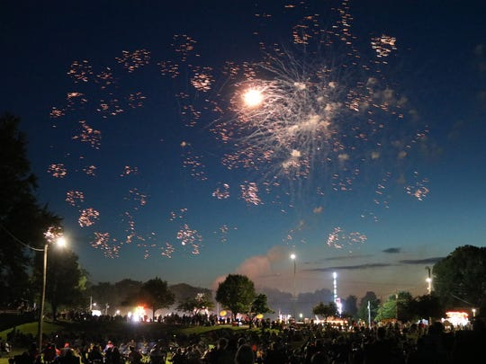 Woodville hosted its 76th annual Fourth of July celebration with a finale of fireworks on Saturday.