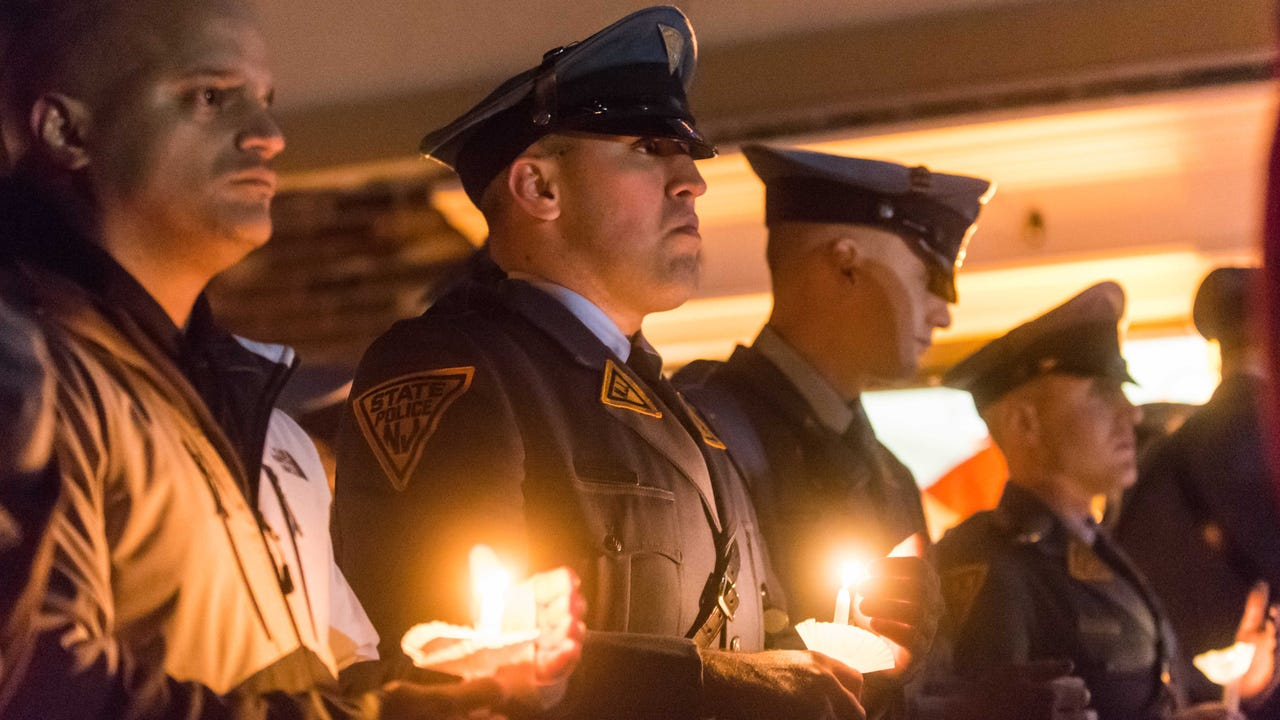 Watch: Candlelight vigil held for trooper Frankie Williams