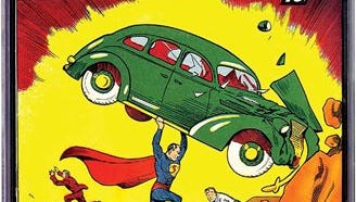 This 2014 photo provided by e-Bay shows a rare, nearly flawless copy of Superman's comic-book debut which has sold for $3.2 million. Created by Cleveland teenagers Jerry Siegel and Joe Shuster, Action Comics No. 1 introduces the Man of Steel's Kryptonian backstory, earthly role as reporter Clark Kent and identity as a champion of the oppressed. About 100 to 150 copies are believed to exist, only a handful of them in top condition. The book just sold got a seldom-seen 9.0 on a 10-point scale used to measure vintage comic books' condition.