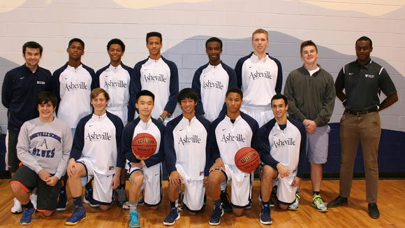 The Asheville School boys basketball team.