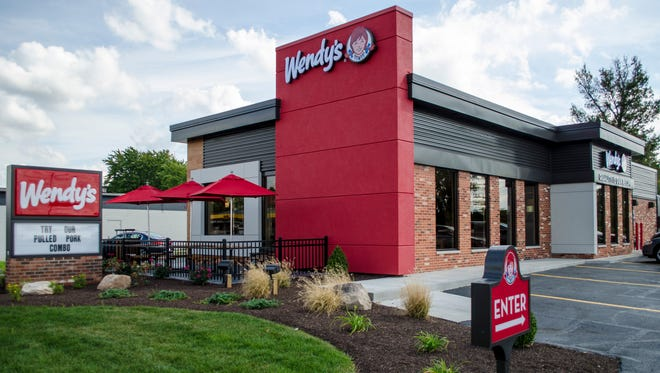 The Wendy's restaurant on E. McGalliard Road was remodeled with a contemporary design and layout, as seen in this photo from Sept. 28, 2015.