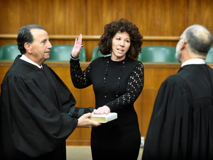Sherry Capello is sworn in for her third term as Lebanon's