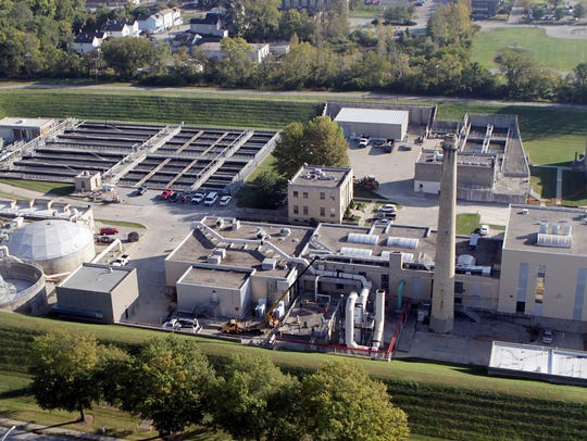 An aerial view of the Little Miami Wastewater Treatment