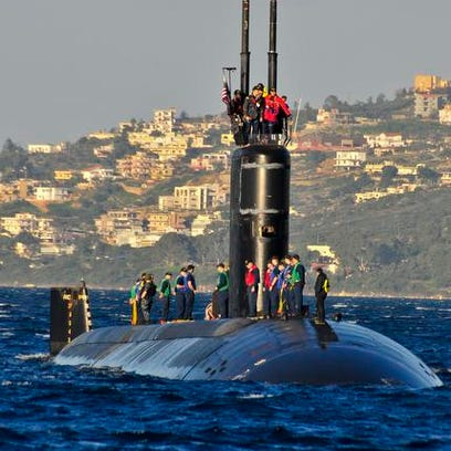 The Los Angeles-class attack submarine USS Alexandria