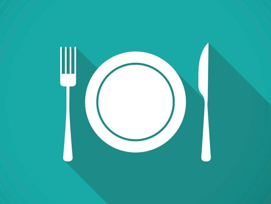 Plate,fork and knife